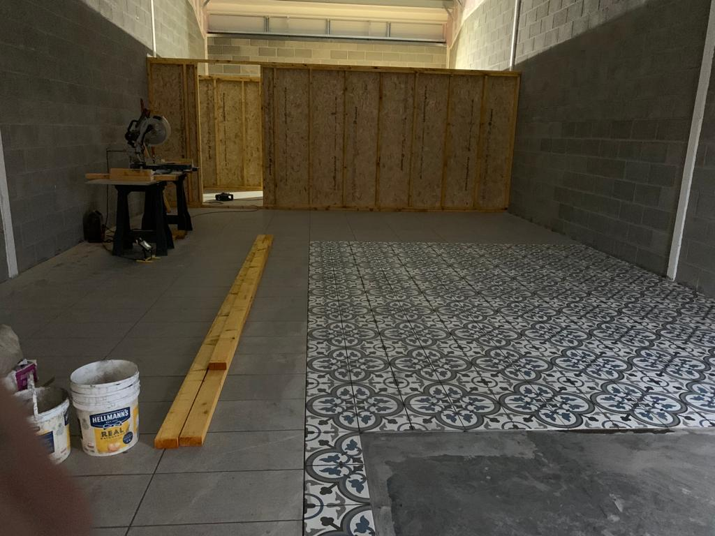 Tiling started at Enzo's Fish & Chips Bishopton - by One Call